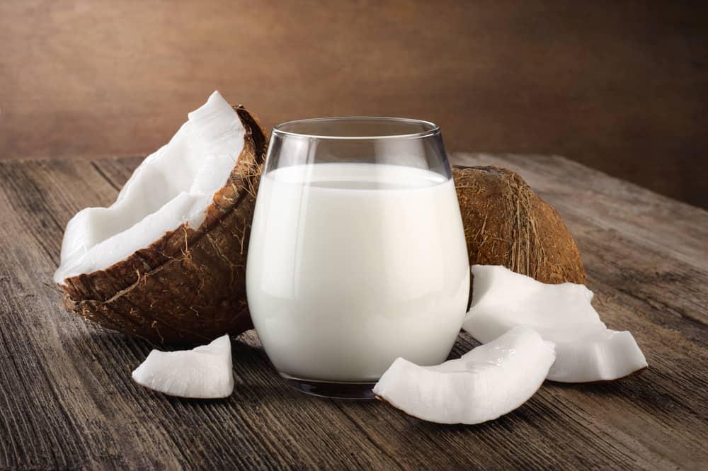 A Glass of Fresh Coconut Milk