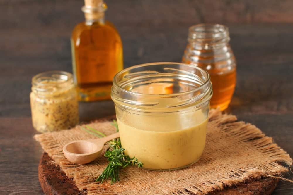 Honey mustard in a jar