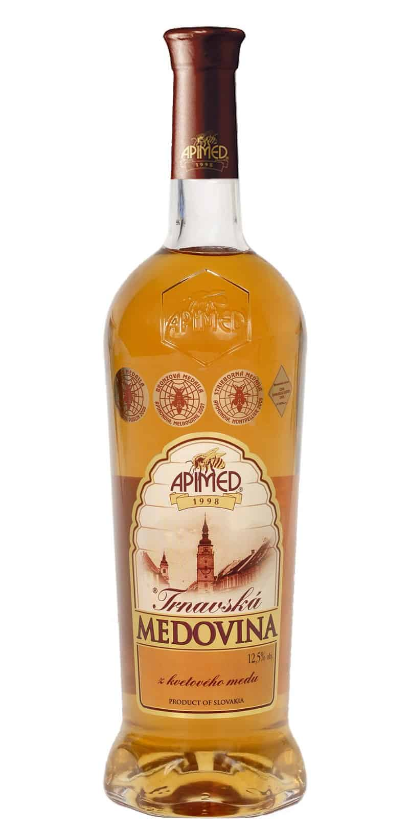A bottle of Medovina infused with flowers, herbs and spice, brewed in the old Slavic style.