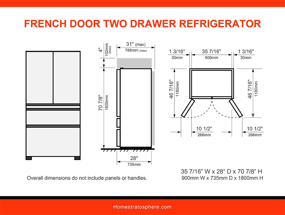 03 French Door Two-Drawer Refrigerator