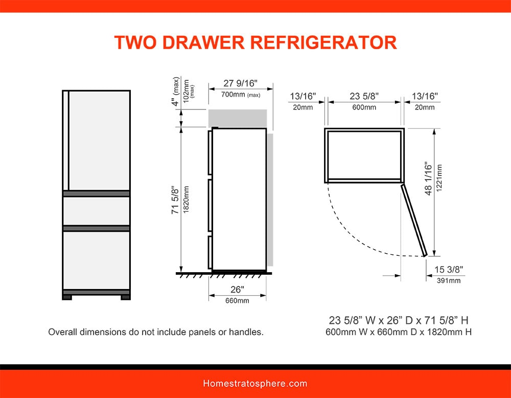 04 Two Drawer Refrigerator
