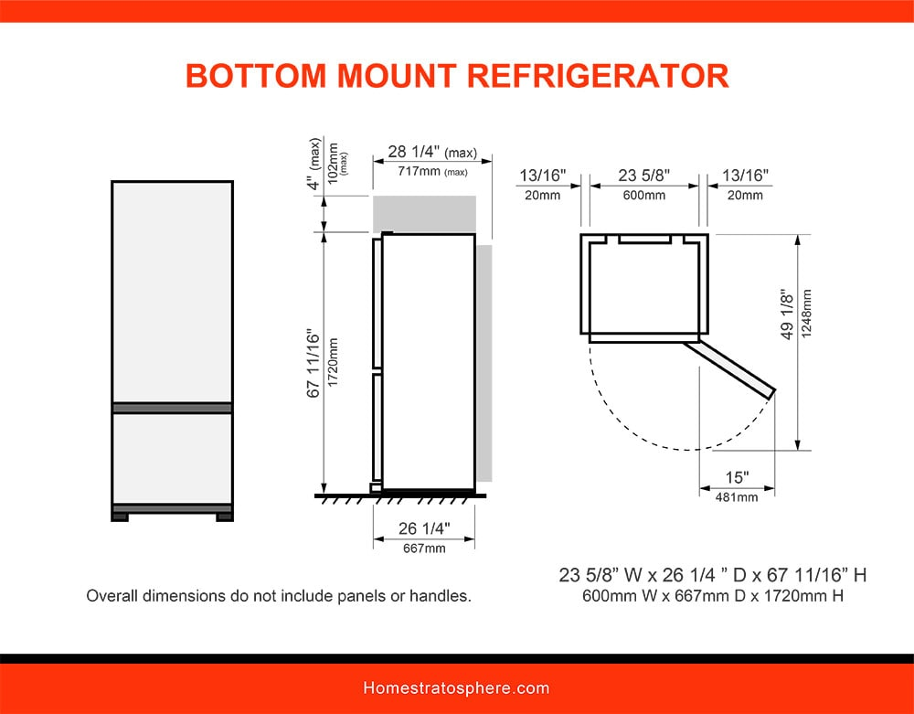 06 Bottom Mount Refrigerator
