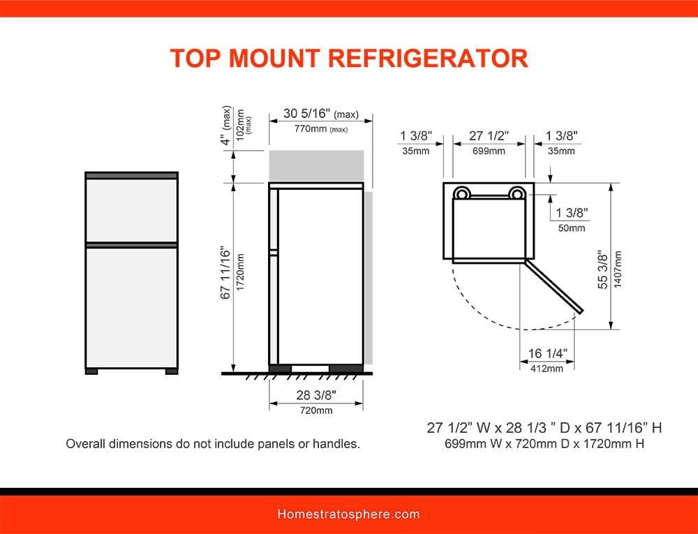 07 Top Mount Refrigerator