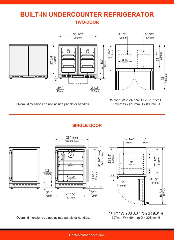 12 Built-In Under-Counter Refrigerator