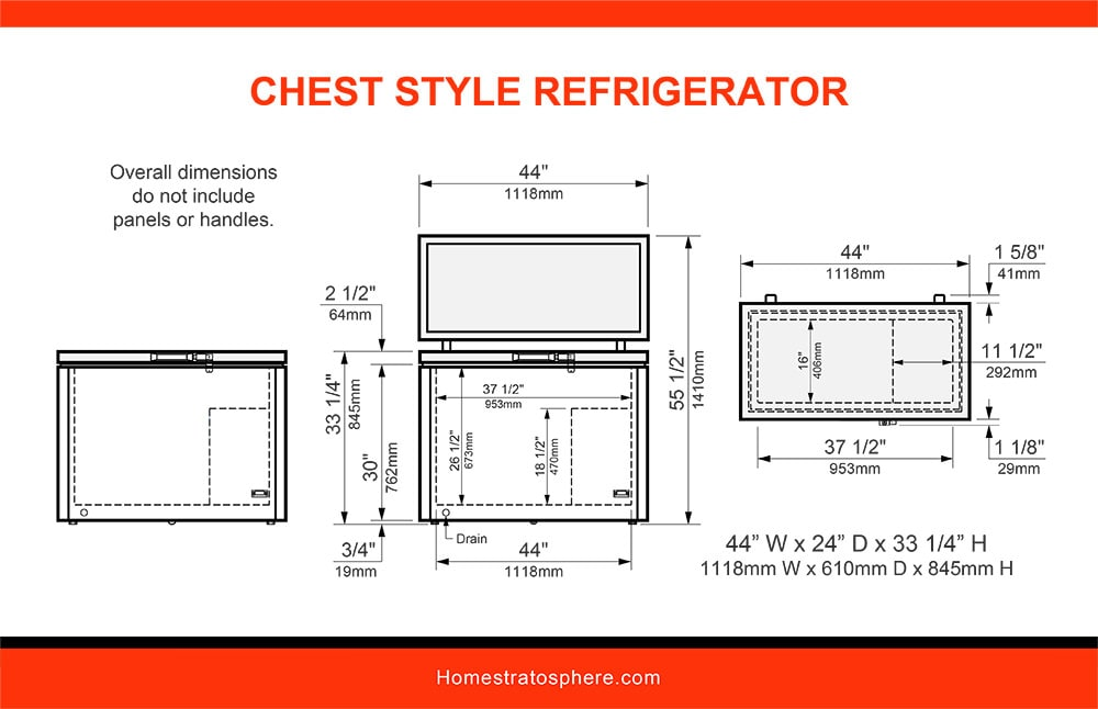 13 Chest Style Refrigerator