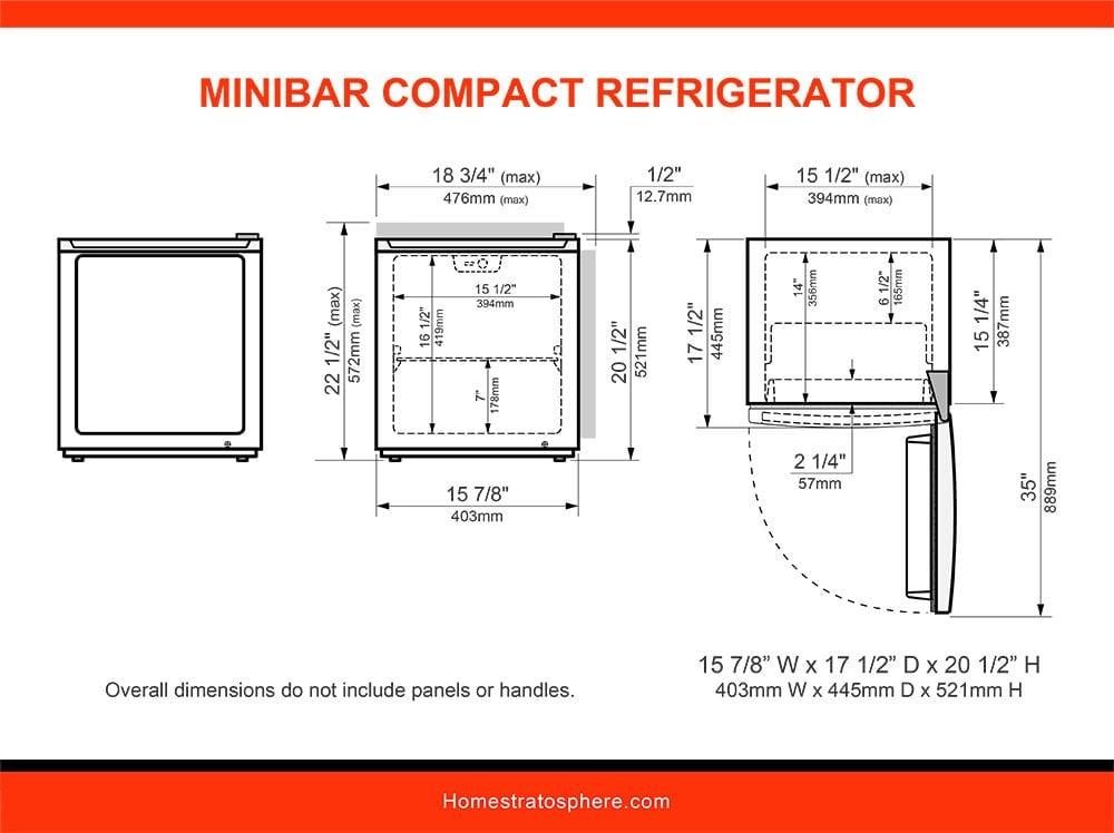 14 Minibar Compact Refrigerator