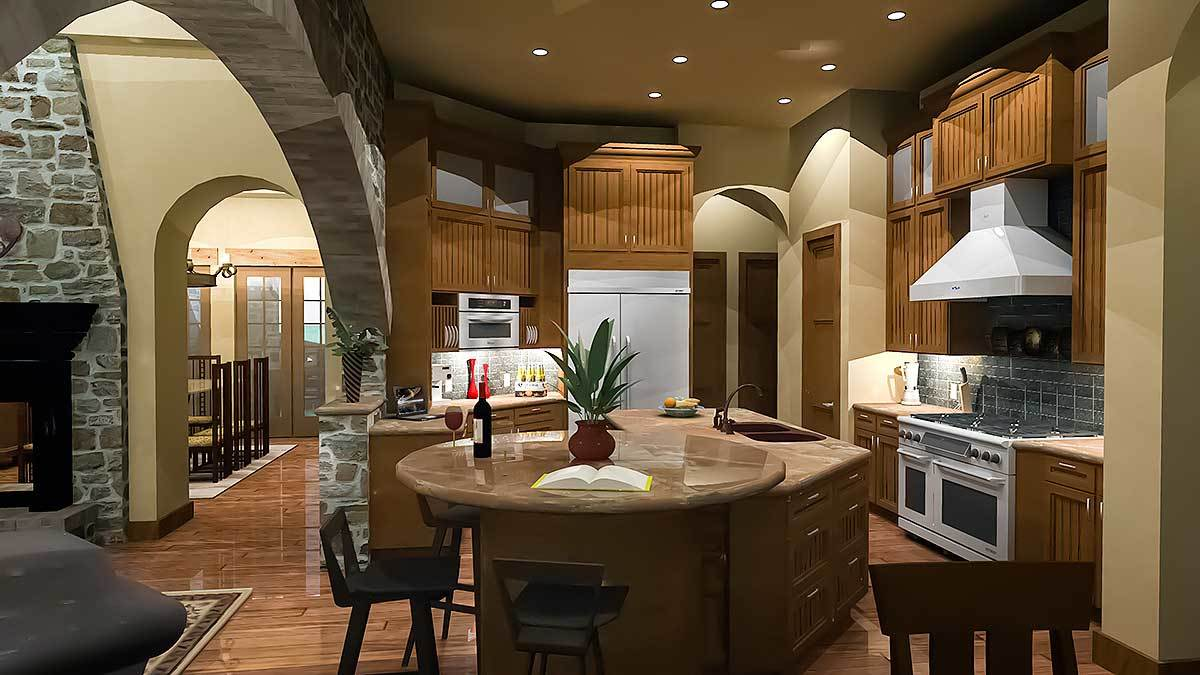 Earth tone colors of Tuscan style interior