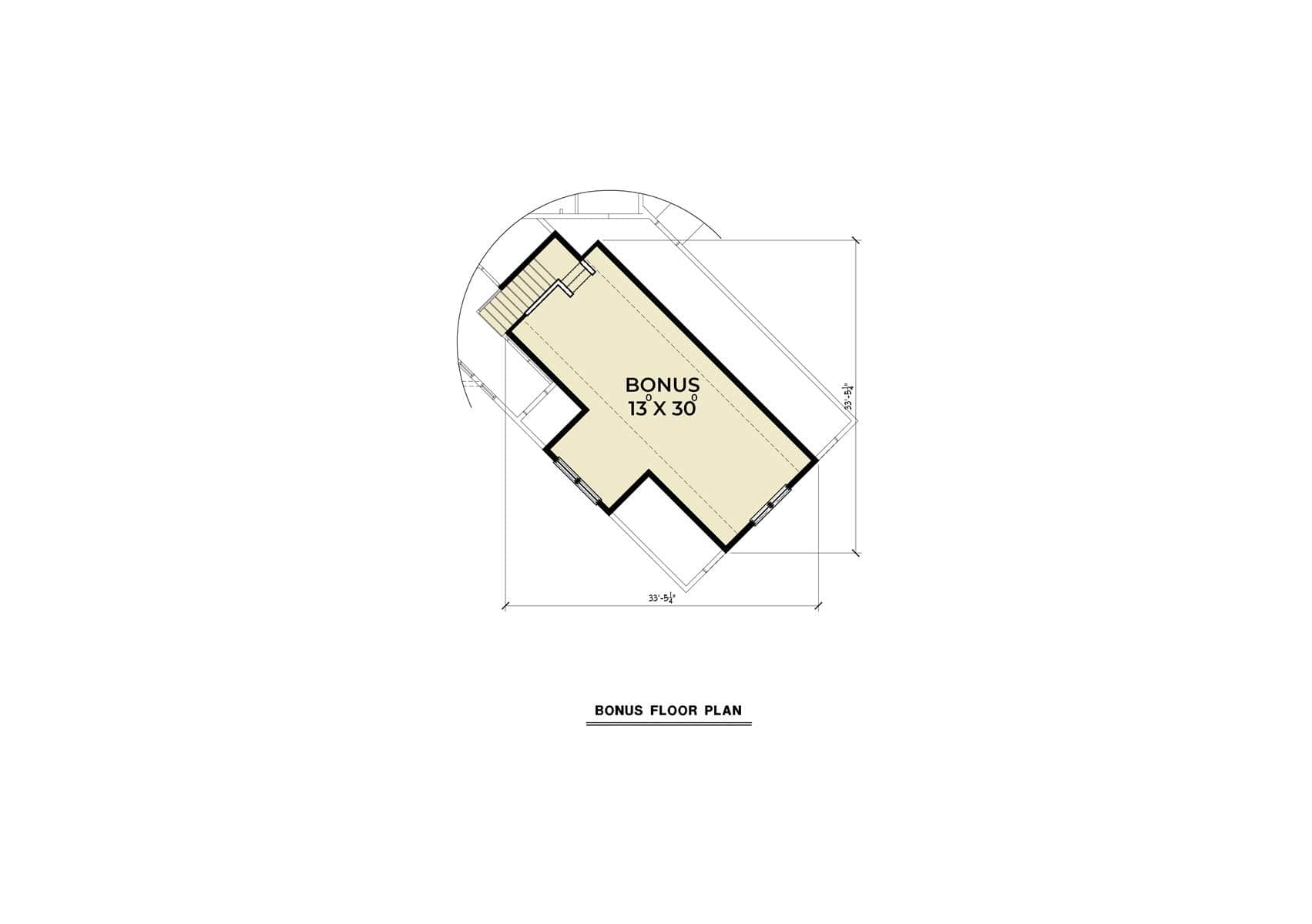 The bonus floor plan gives you a flexible space above the two-car garage.