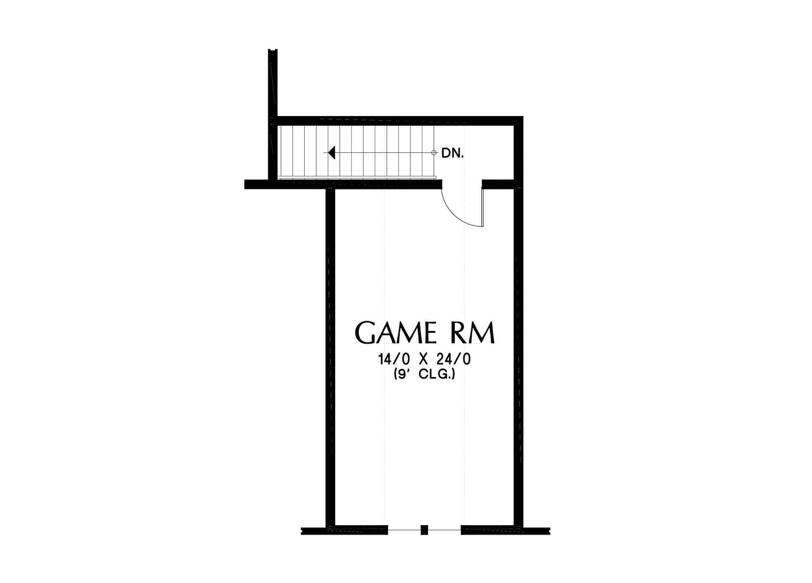 Bonus second level floor plan with a large game room.