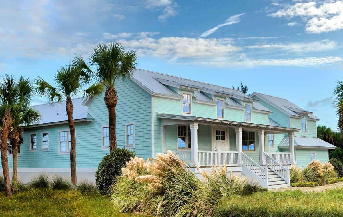 Colonial style Florida beach house