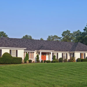 Example of a ranch-style house