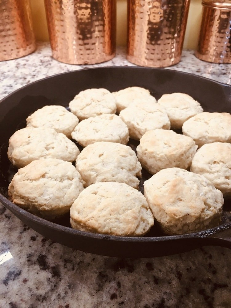 A lovely set of freshly baked homemade biscuits.
