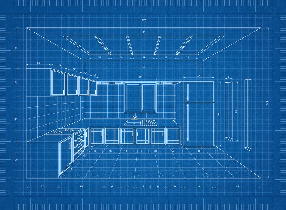 Kitchen 3D blueprint