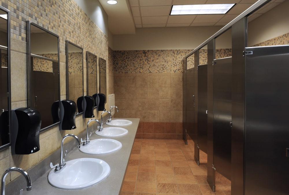 Public restroom lavatory