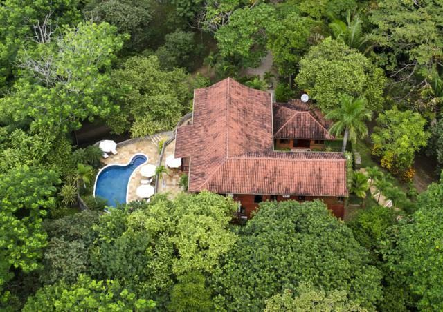 This is the aerial view of the house showing the U-shape that forms the front courtyard. behind this is the beautiful pool surrounded by tall trees. Images courtesy of Toptenrealestatedeals.com.