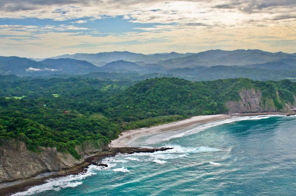 This is an aerial view of the beach that is part of the jungle property. Images courtesy of Toptenrealestatedeals.com.