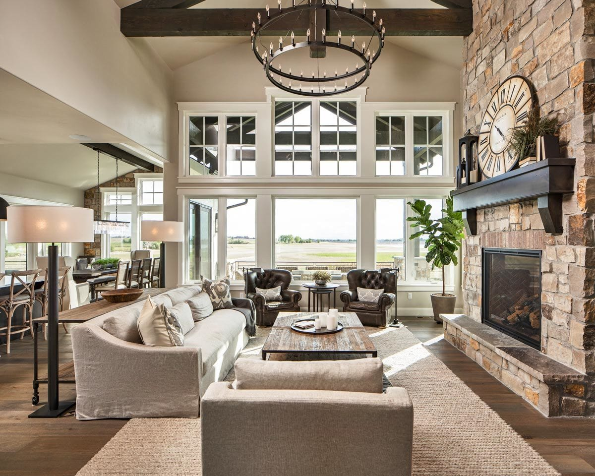 An immense window that brings an abundance of natural light in the living room.