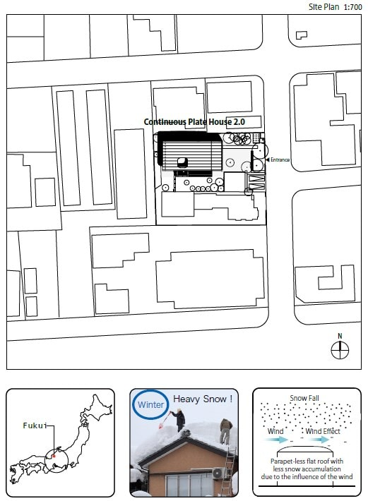 This is an illustration of the location map of the house. Here you can see the position of the house within its residential block.