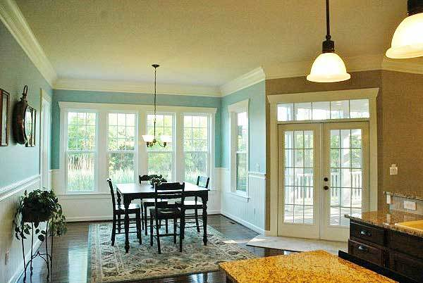 There's a french door near the breakfast area leading out to the screened porch.