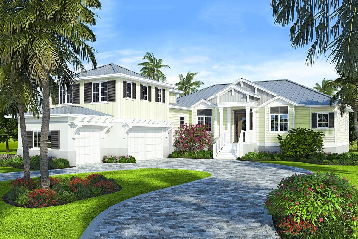 Two-Story 4-Bedroom Coastal Home with Open Concept Living Room