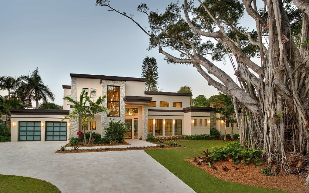 Two-Story 4-Bedroom Modern Florida Home