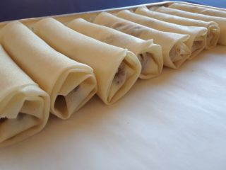 A finished set of uncooked rolls.
