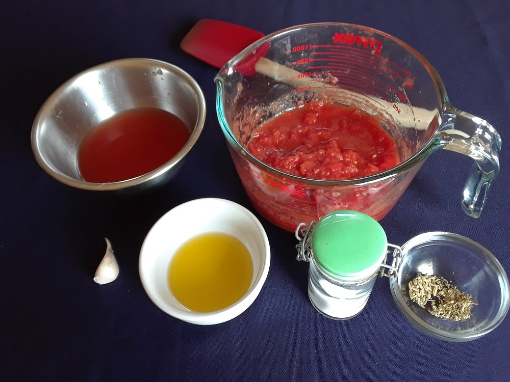 The complete set of ingredients to be used in the recipe.