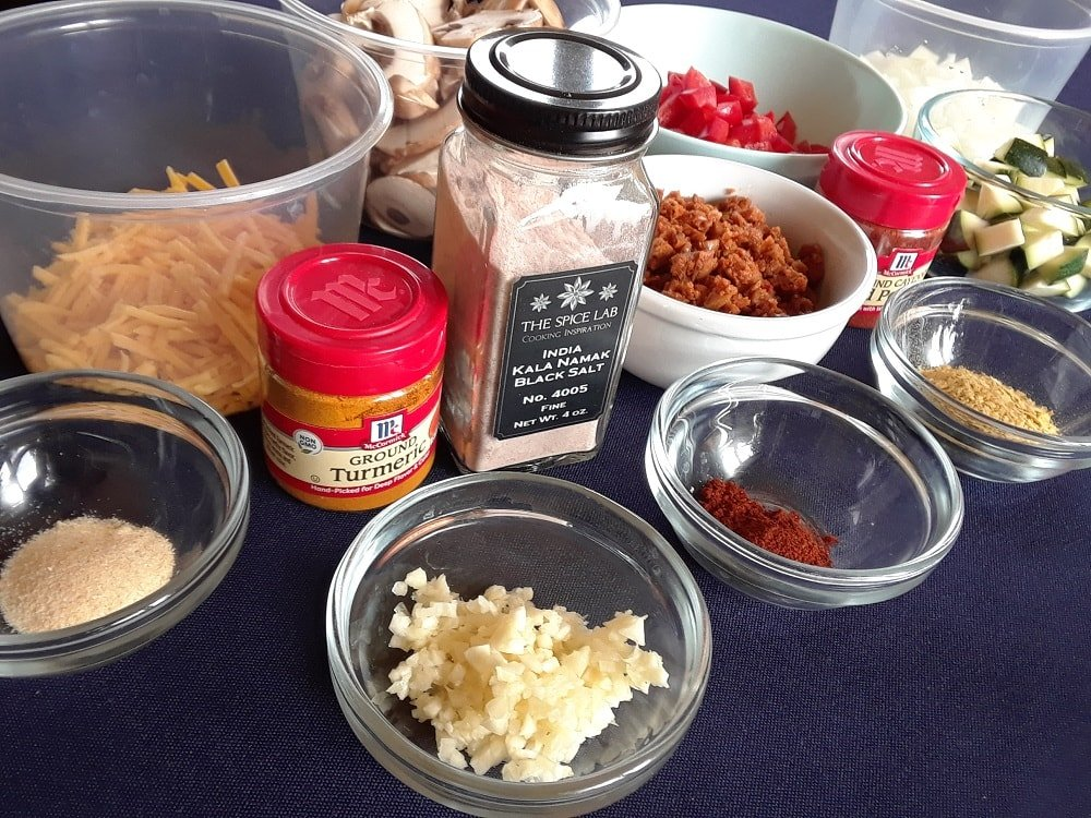 The complete set of ingredients to be used for the recipe.