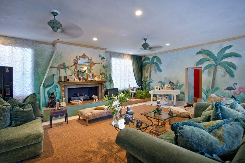 Vintage them style family room