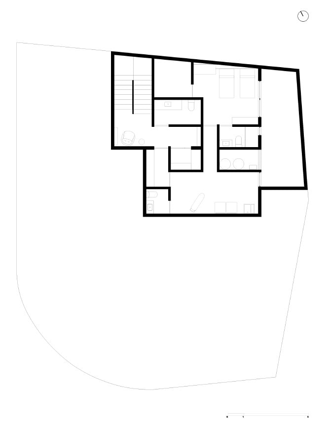 This is an illustrative representation of the property showing the basement floor plan.