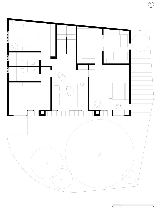 This is an illustrative representation of the property showing the second floor plan.