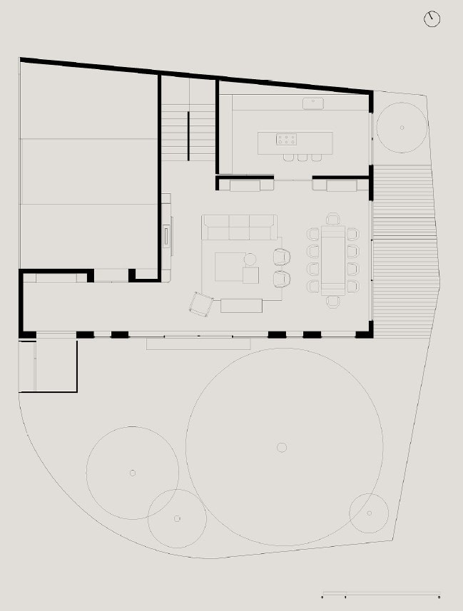 This is an illustrative representation of the property showing the ground floor plan.