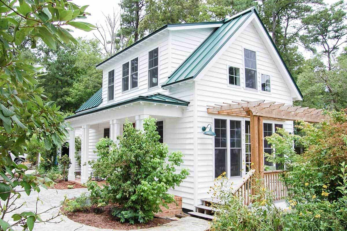3-Bedroom Two-Story Cottage Home with Front and Side Porches (Floor Plan)