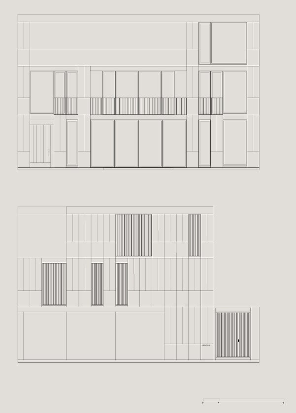 This is an illustrative representation of the front and back elevation of the house.