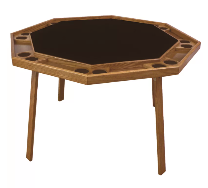 Poker table with 4 folding legs