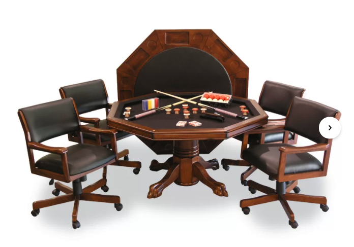 4 to 6 person poker table - round