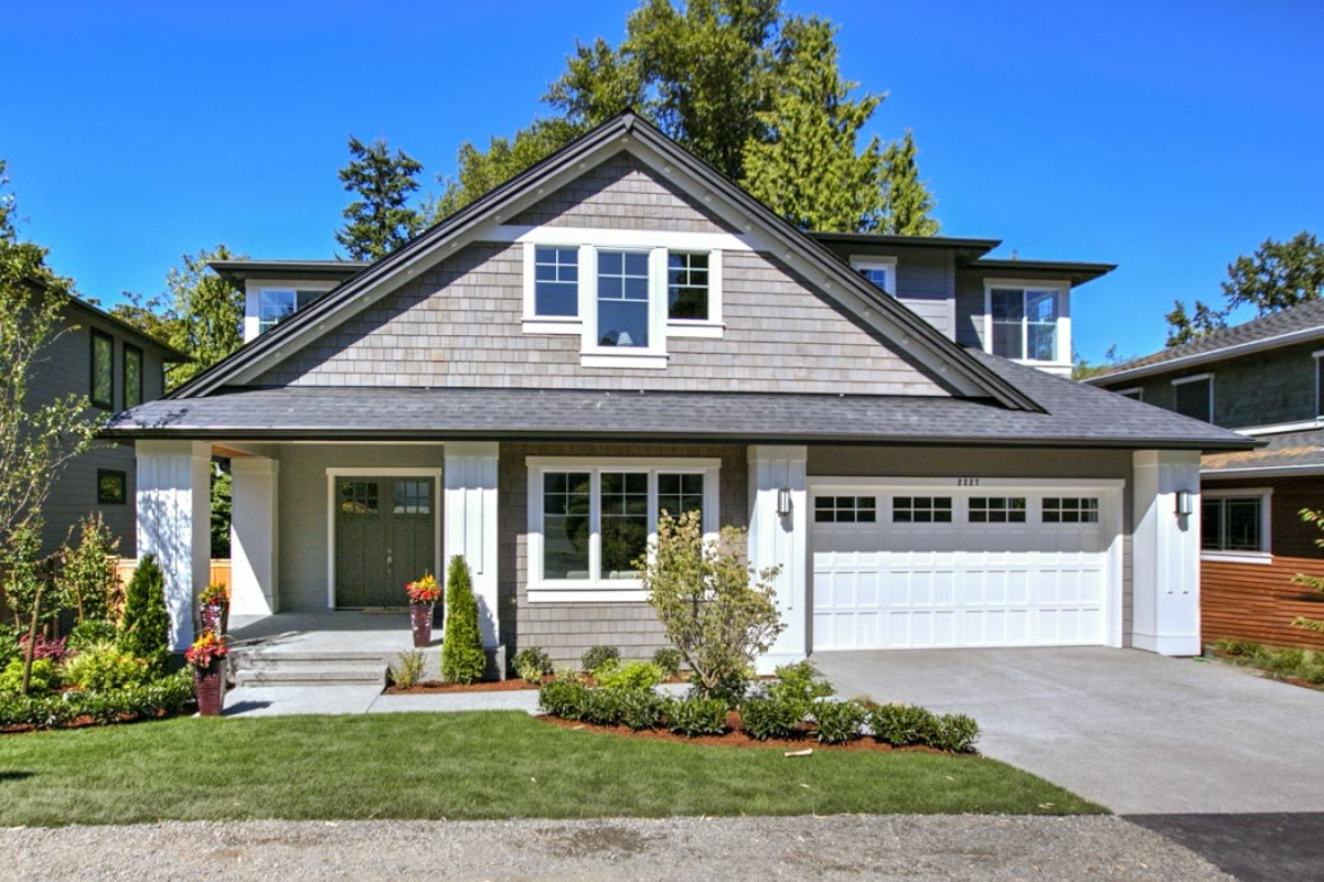 5-Bedroom Two-Story New American Bungalow with Two-Story Family Room