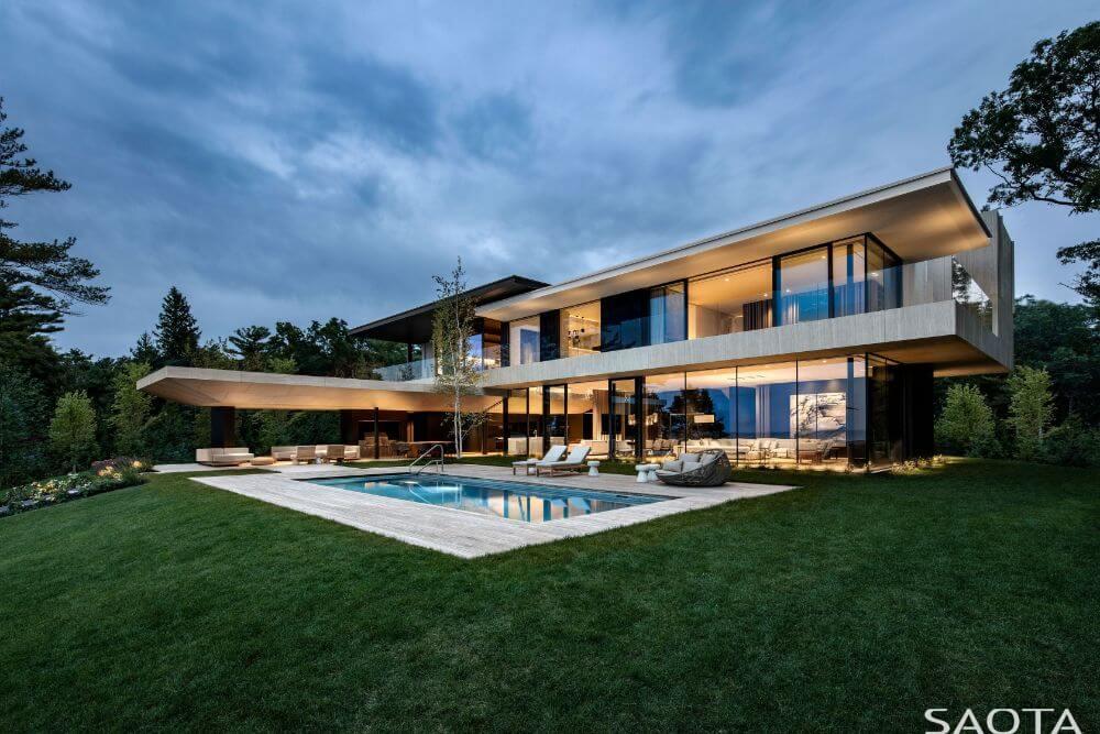 SAOTA Designs Canadian Home on the Banks of Lake Huron