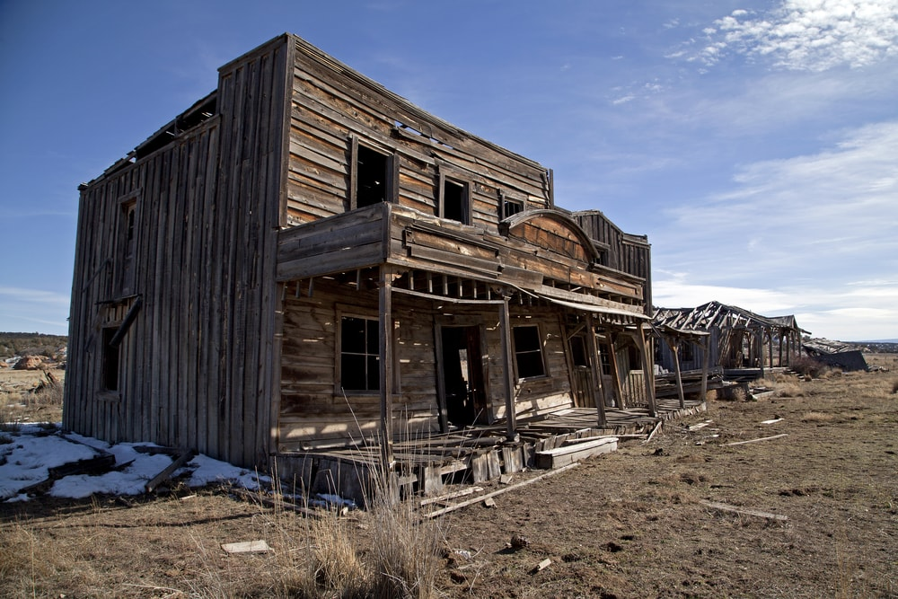 An abandoned general store in the American Southwest.