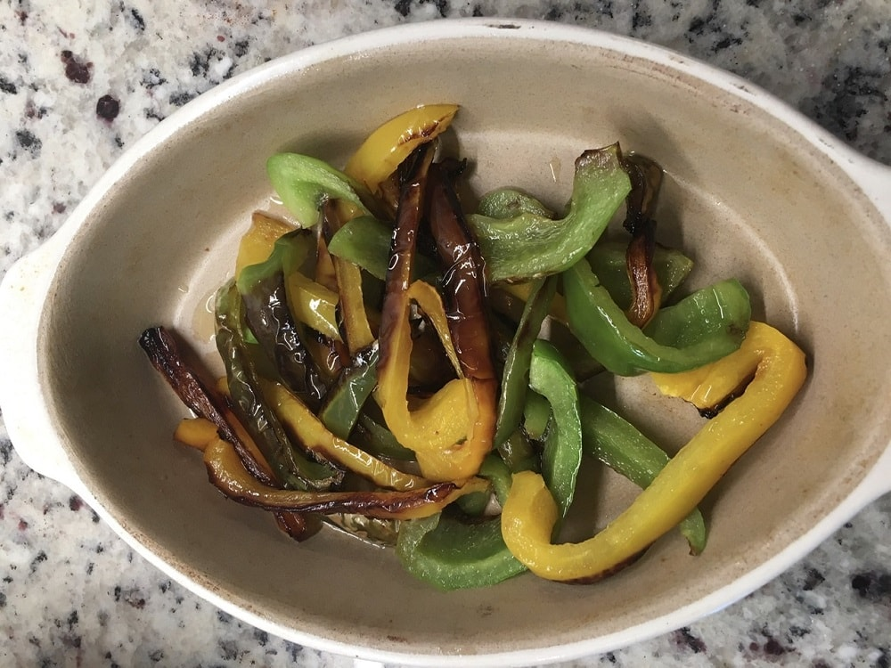 The cooked vegetables are set aside once cooked.
