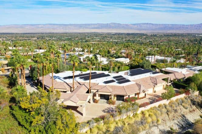 Aerial view Palm Springs mansion