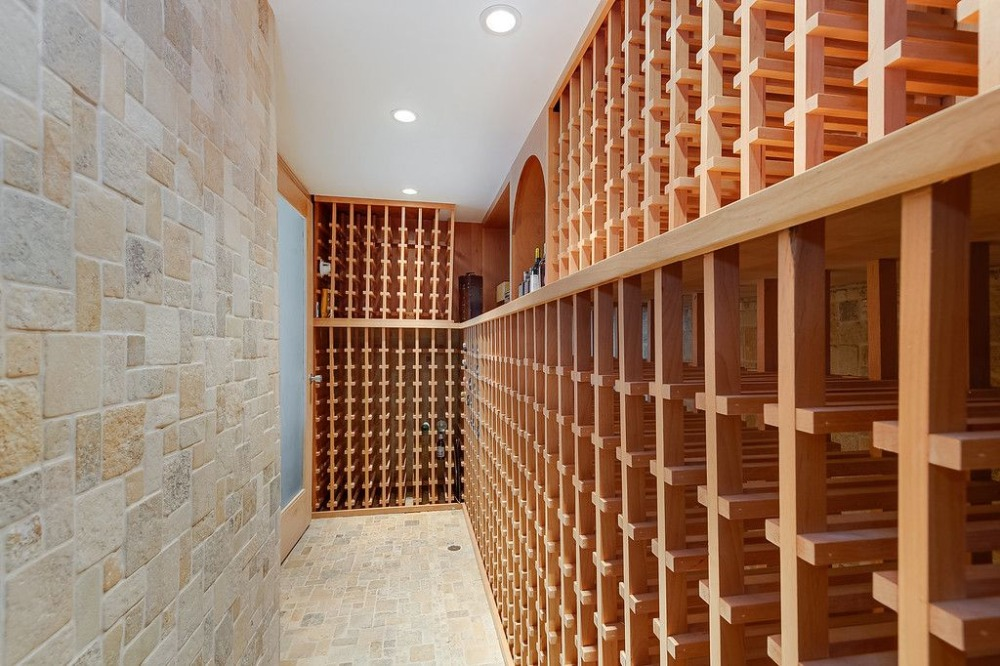 The house also boasts a wine cellar that can hold hundreds of bottles. Images courtesy of Toptenrealestatedeals.com.