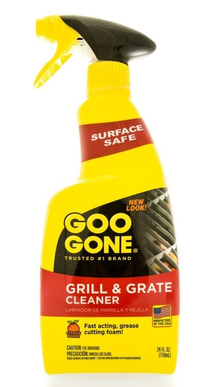 A bottle of Goo Gone with a spritzer.