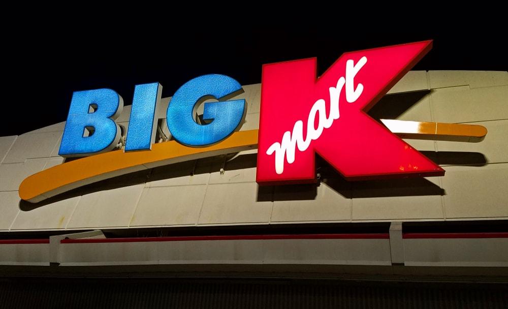 Big K mart signage.