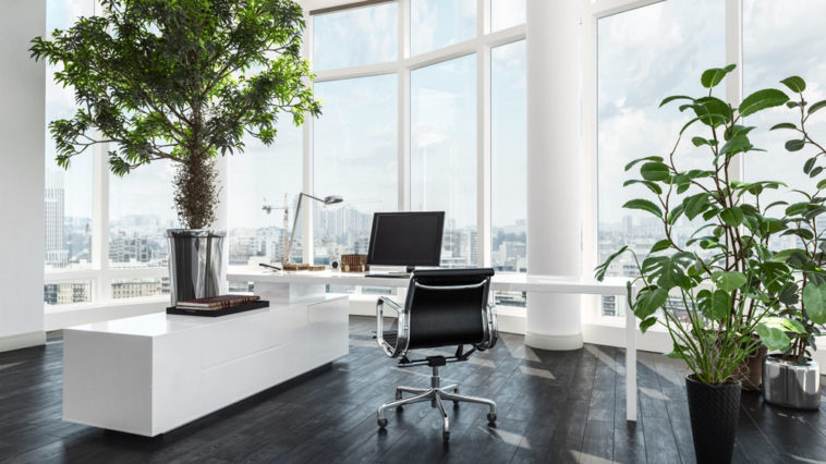 Office in condo penthouse
