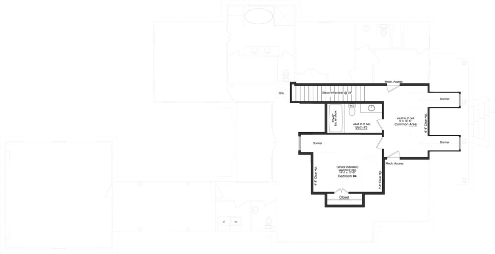 Optional second level floor plan with another bedroom and bath along with a large common area.
