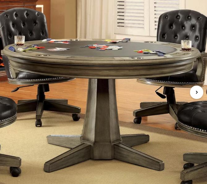 Pedestal style poker table