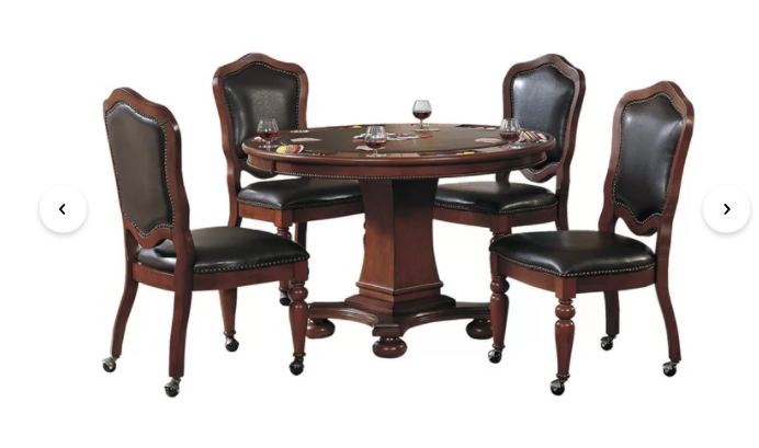 Poker table that converts to dining table