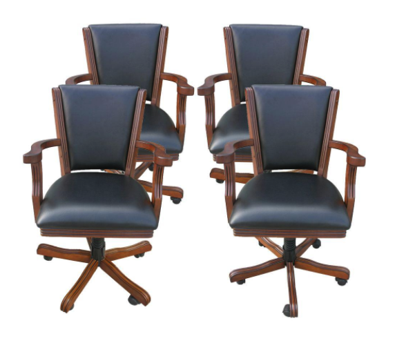 4 poker playing chairs