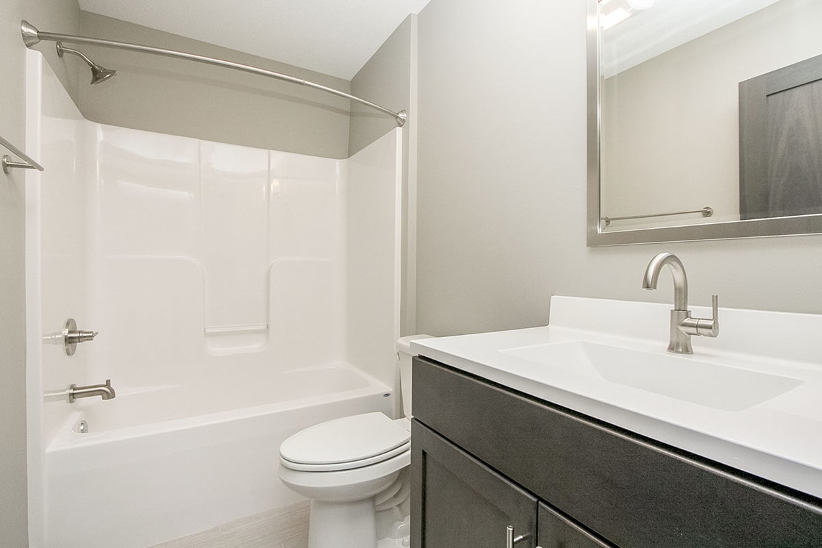 This bathroom offers the same amenities as the previous bath.